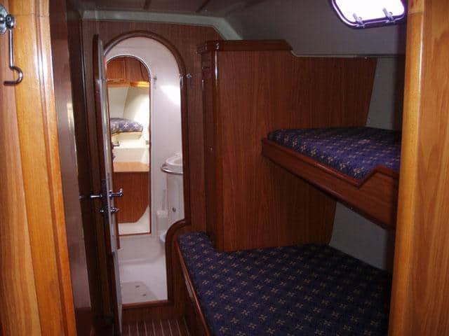 Ocean Star 51.1/ Cabin & berth area, WC & skipper's cabin