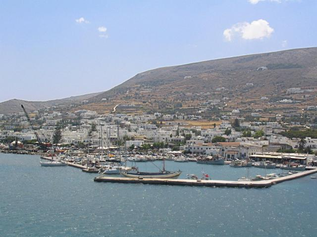 Paroikia (or Parikia) is the capital and the main port of Paros island. Parikia port is a few meters away from the ferry and right in the heart of the town.