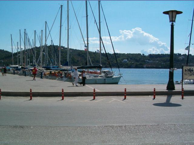 Docks in Skiathos base, Skiathos island-Greece.
