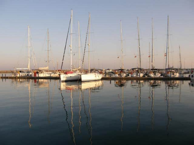 Galazio Sailing meeting point, for Pythagorion port, is directly to the yacht.