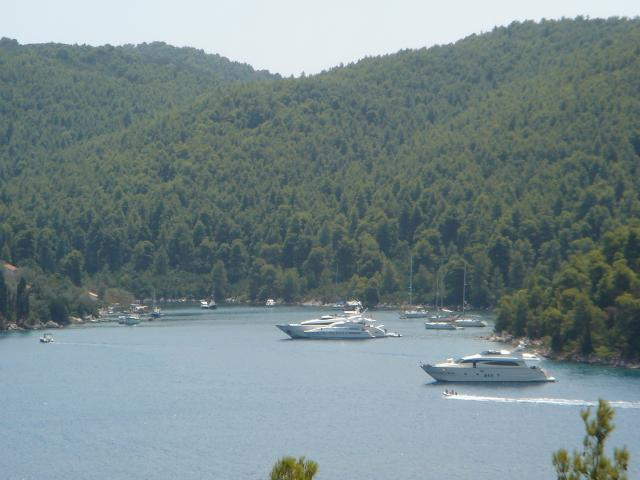 There is no organised marina in Skopelos island. Skiathos port in Skiathos island is our charter base for the Sporades islands.