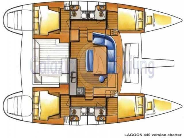 Lagoon 440/ layout