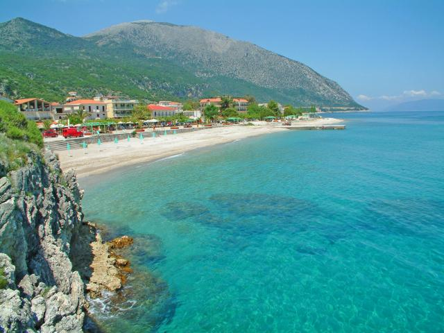 Poros' beaches, mostly in little bays on the South coast of the island, have calm and protected waters.