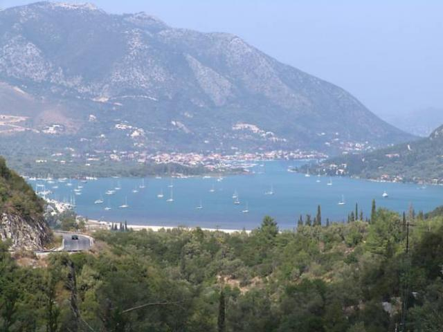 Panoramic view of Nidri in Lefkas island.