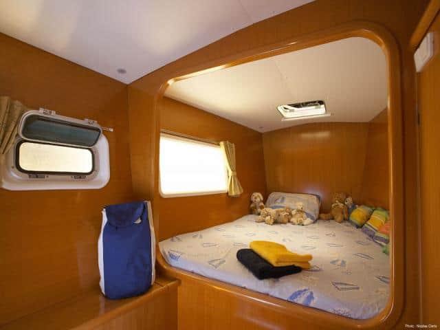 Catamaran Lagoon 410/ cabin area