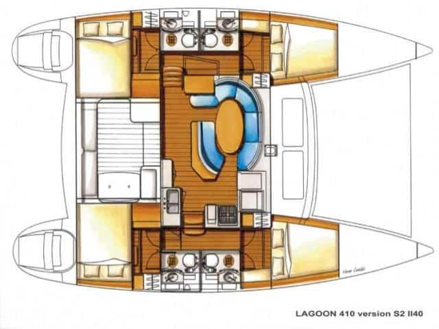 Catamaran Lagoon 410/ layout