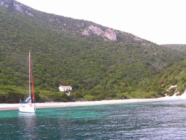 Lefkada island belongs to the Eptanisa, an island complex that lies in the Ionian Sea.