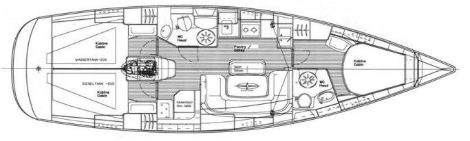 Bavaria 39 Cruiser/ Layout