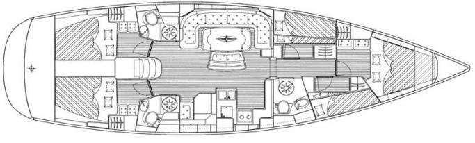 Bavaria 50 Cruiser/ Layout