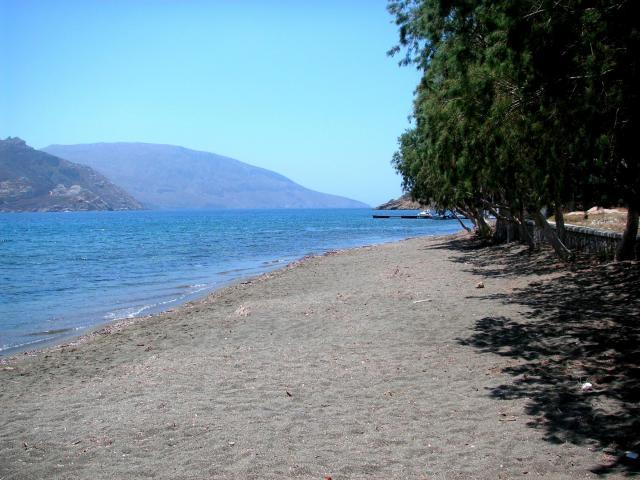 Beach on Telendos island opposite Kalymnos/ Dodecanese sailing area.