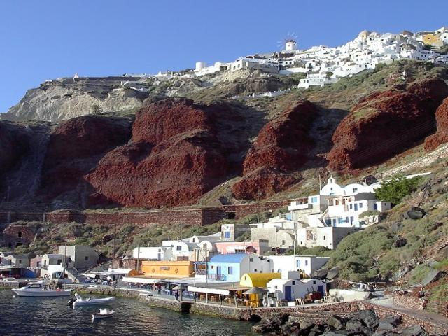 Santorini is one of the most amazing islands in the Cyclades sailing area!