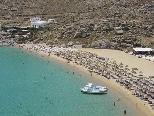 Mykonos will also amaze you with its clean, magnificent white beaches! Here is super paradise beach in Mykonos island.