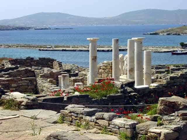 The sacred island of Delos.