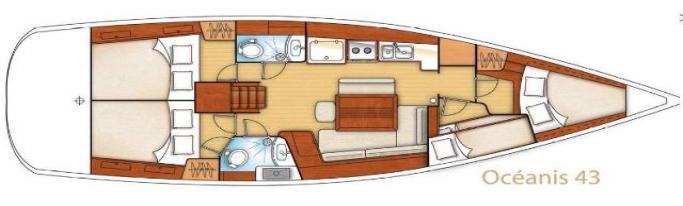 Beneteau Oceanis 43/ Layout
