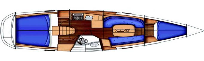 Beneteau Oceanis 343/ layout