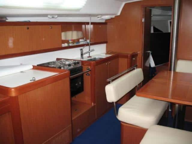 Beneteau Oceanis 40/ galley area