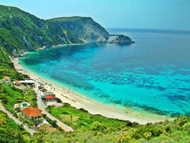 Petani is one of the most beautiful beaches in Kefalonia island. It is worth spending a day there!