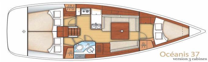 Beneteau Oceanis 37/ layout