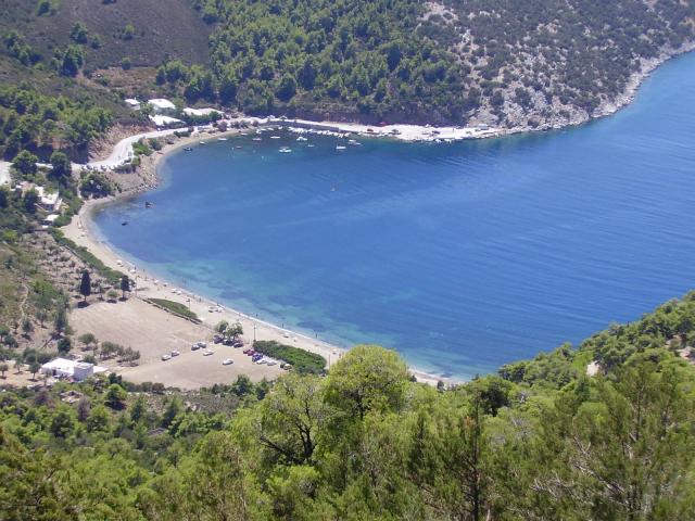 Even though Skyros' coastline is generally steep and (in some cases) rugged, there are sandy, pebbly or even pine-forested beaches and coves.