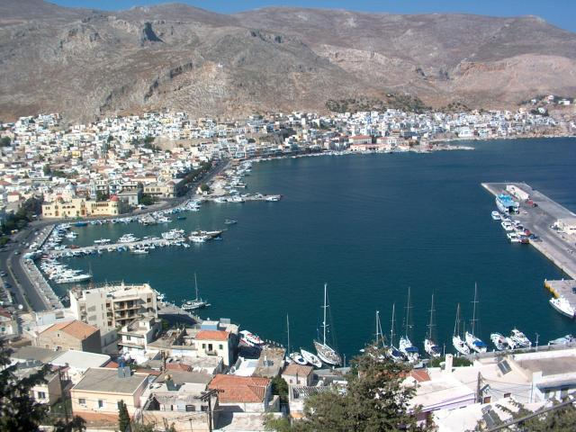 Kalymnos is one of the Northern islands in the Dodecanese sailing area, Greece. Here, you may view Kalymnos (Pothia port).