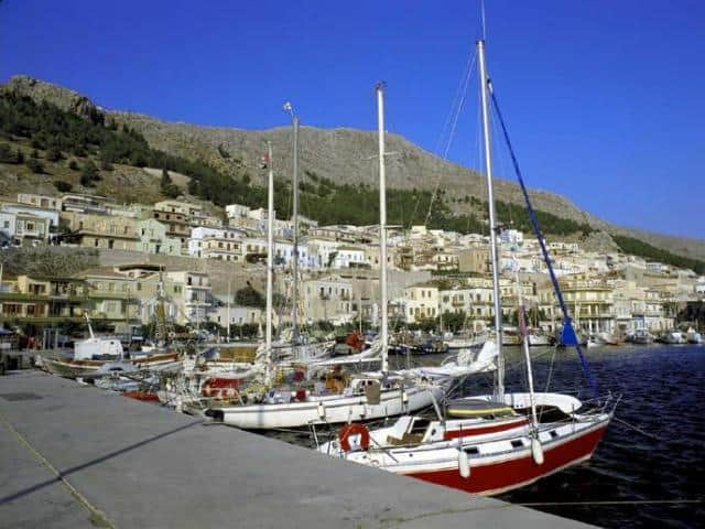 Kalymnos marina in Pothia port, Kalymnos island.