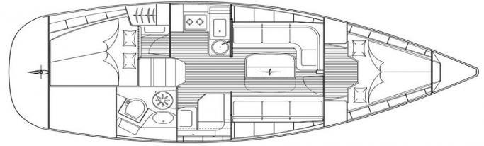 Bavaria 33 Cruiser/ layout