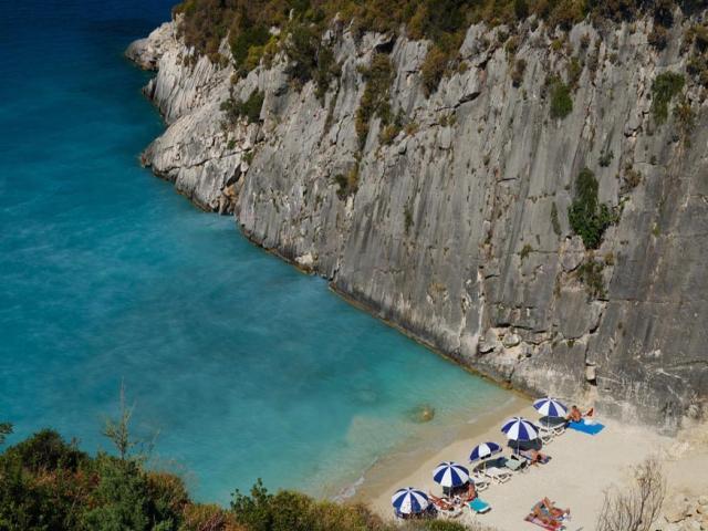 Xigia beach in Zakinthos (Zante) island/ Ionian sailing area-Greece.