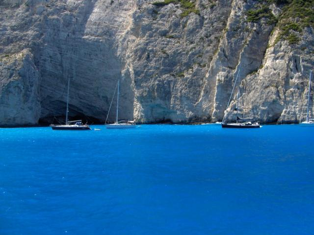 Mooring places in Zakynthos harbour/ Ionian sailing area.