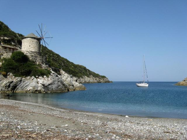 Most beaches in Alonissos are pebble ones scattered along the East coast.