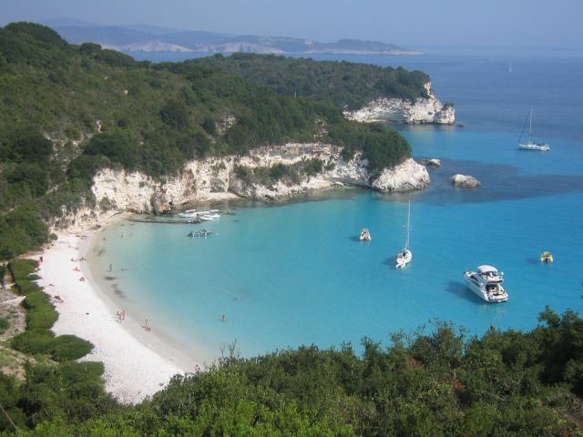 Voutoumi beach in Antipaxoi/ Ionian sailing area.