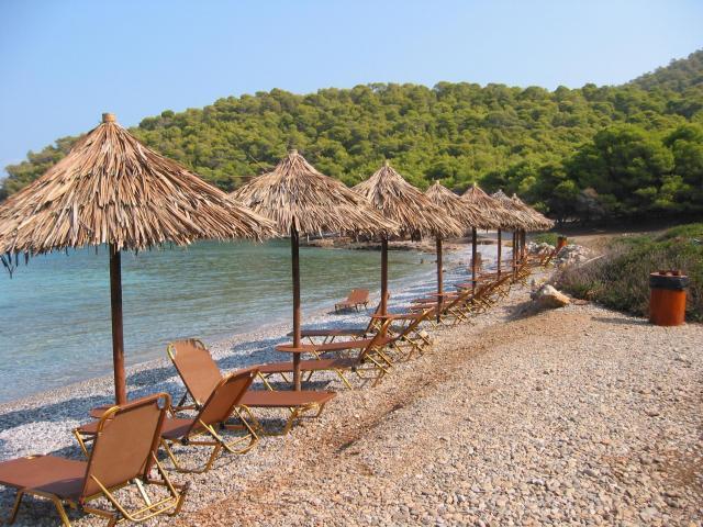Dragonera beach in Angistri island, Saronic Greece.