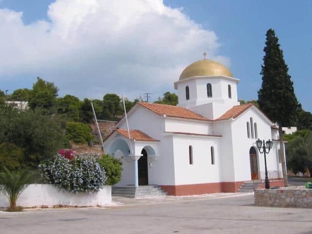 Little church in Limenaria village in Angistri island/ Saronic Gulf.