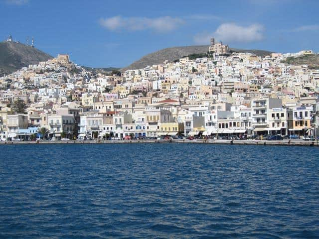 Syros (otherwise Siros or Syra) is a Greek island located just in the middle of the Cyclades islands, Greece.