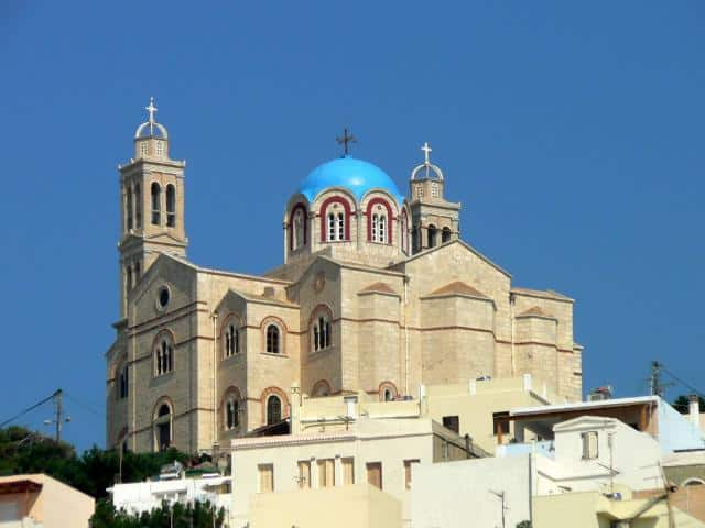 Ermoupolis, the capital of Syros island, offers many Catholic and Orthodox churches to view.