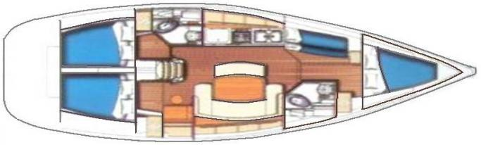 Beneteau Cyclades 43.4/ Layout