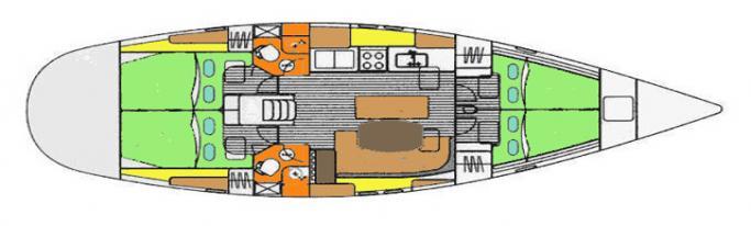 Beneteau Oceanis 461/ layout