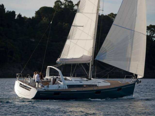 Beneteau Oceanis 48 while on sailing!