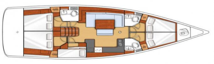 Beneteau Oceanis 48 / Layout