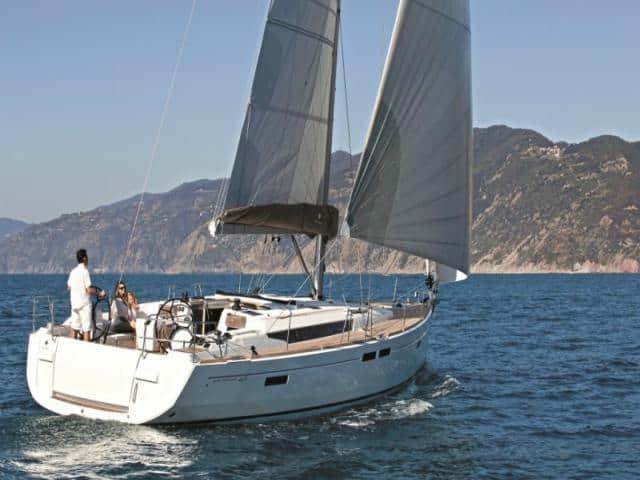 Jeanneau Sun Odyssey 469 while on sailing!
