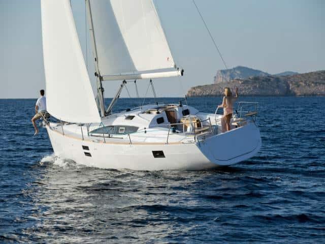 Elan Impression 40 under sails!
