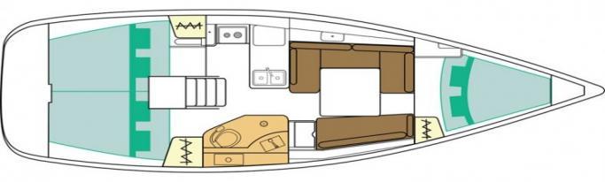 Beneteau Oceanis 34/ layout