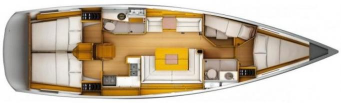Jeanneau Sun Odyssey 449/ layout