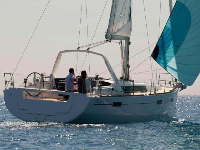 Beneteau Oceanis 45 under sails!