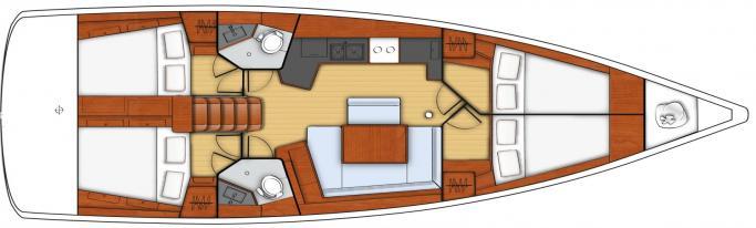 Beneteau Oceanis 45/ Layout