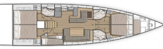 Beneteau Oceanis 51.1/ Layout