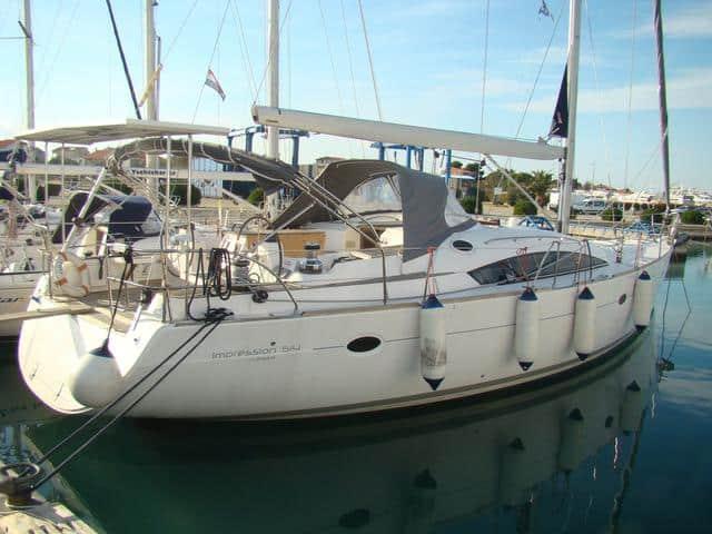 Elan Impression 514 on the dock!