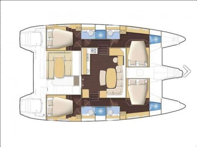 Catamaran Lagoon 421/ Layout