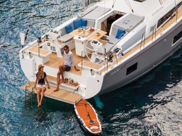 Beneteau Oceanis 46.1 on the anchor!