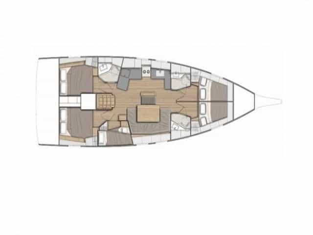 Beneteau Oceanis 46.1 | Layout (5Cab)
