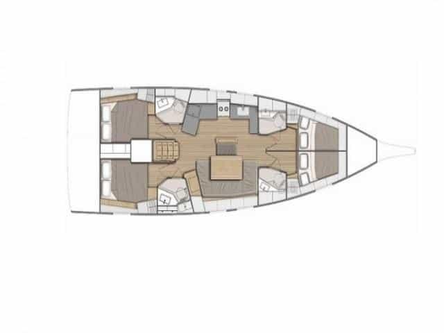 Beneteau Oceanis 46.1 | Layout (4Cab)